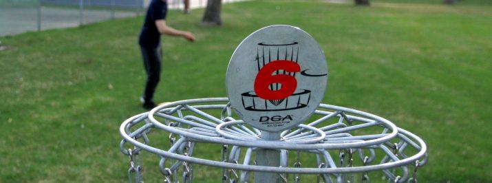Disc golf at Melgaard 2