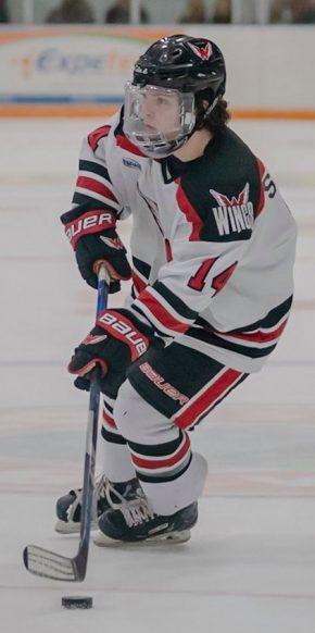 Hockey player on ice - Aberdeen Wings Hockey